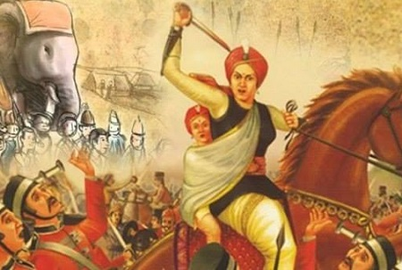10 Lines on Rani Lakshmi Bai in Hindi